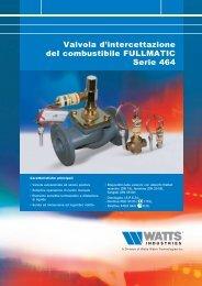 Valvola d'intercettazione del combustibile ... - Watts Industries