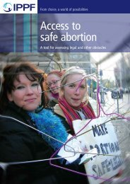 Access to safe abortion - International Planned Parenthood Federation