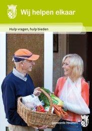 folder WIJ helpen elkaar - Vrijwilligerswerk in de regio
