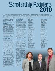 Scholarship Recipients 2010 - UMKC School of Dentistry