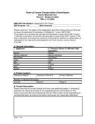 Scenic Mountain Act Form C NOI - Lenox