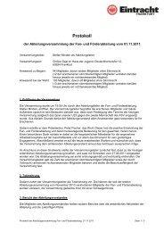 Protokoll - Eintracht Frankfurt e.V.