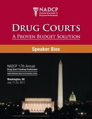 DRUG COURtS - National Drug Court Institute