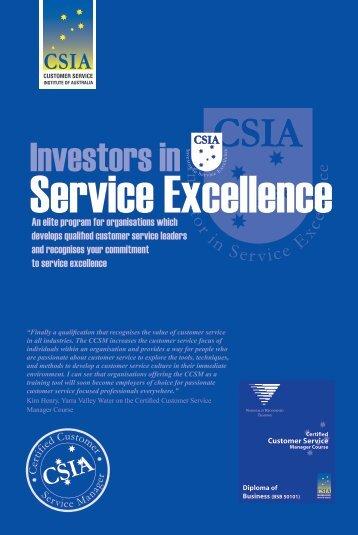 Investors in - Customer Service Institute of Australia