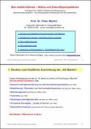 Das mobile Internet – Status und ... - Universität Bonn