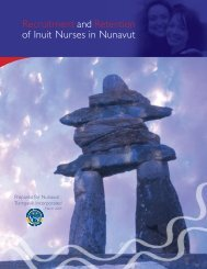 Recruitment and Retention of Inuit Nurses in Nunavut (ENG)