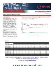 Ontario Ballot - Nanos Research