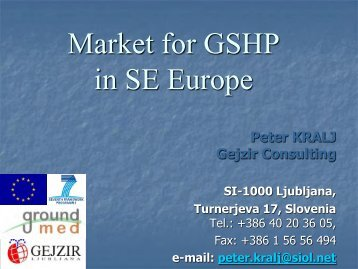 Heat Pump Market in Slovenia - GROUND-MED project