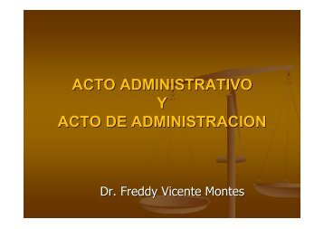 Acto Administrativo y Acto de Administración