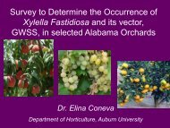 Survey to Determine the Occurrence of Xylella Fastidiosa and its ...