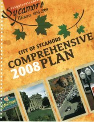 Comprehensive Plan - the City of Sycamore!