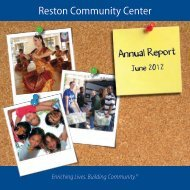 RCC Annual Report - Reston Community Center