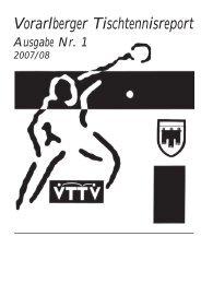 MM - Spielplan Herbst 2007 - Vorarlberger Tischtennisverband