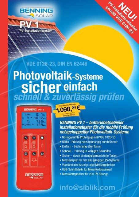 Benning Solar - Siblik Elektrik Ges.m.b.H. & Co. KG