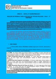 2. Edital nº 032/DIE/2013 - Polícia Militar de Santa Catarina