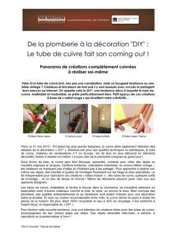 """""""Do it yourself"""" : le cuivre fait son coming out !.pdf - Le Centre d ..."""