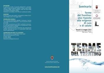 Seminario - Trentino Salute