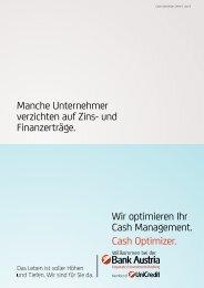 Wir optimieren Ihr Cash Management. Cash Optimizer. Manche ...