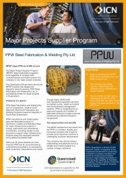 Major Projects Supplier Program