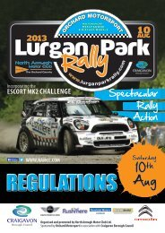 supplementary regulations - Association of Northern Ireland Car Clubs