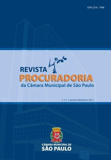 A Procuradoria da Câmara Municipal de São Paulo - Governo do ...