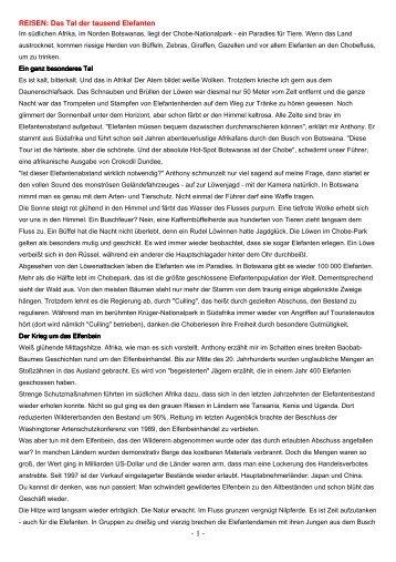 Das Tal der Elefanten - Biografie - timischl.at