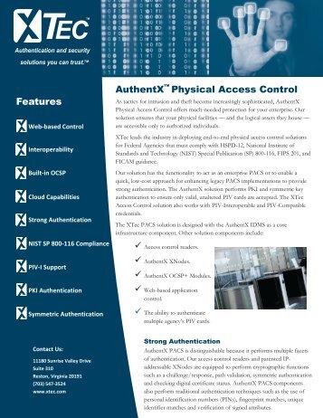 PACS Overview - XTec