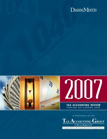 Tax Accounting Review 2007 Year-End ... - Duane Morris LLP