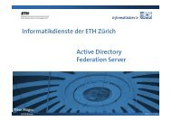 Active Directory Federation Server - ITEK - ETH Zürich
