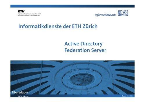 Active Directory Federation Server - ITEK - ETH Zürich
