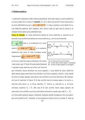 Appunti di Elettromagnetismo - Dipartimento di Fisica