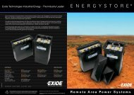 Exide EnergyStore Specs - Going Solar