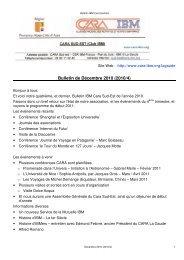Bulletin de Décembre 2010 (2010/4) - CARA IBM
