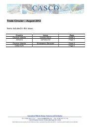 Trade Circular –August 2012 - Harry Allen