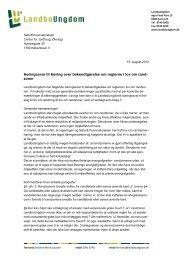 Høringssvar til Høring over bekendtgørelse om reglerne i lov om ...