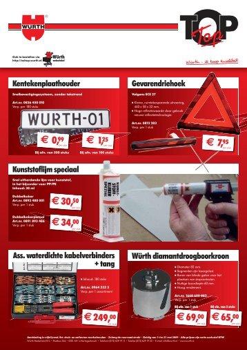 € 0,99 € 7,95 € 30,50 € 34,00 € 69,00 € 65,00 ... - Würth Nederland
