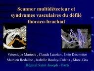 Scanner multidétecteur et syndromes vasculaires du défilé thoraco ...