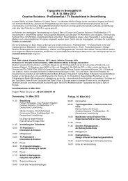 Typografie im Bewegtbild III 15. & 16. März 2012 Creative ... - EEOFE
