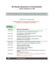 9th Dresden Symposium on Autoantibodies From ... - (GFID) eV
