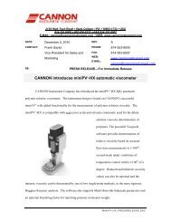 CANNON introduces miniPV®-HX automatic viscometer