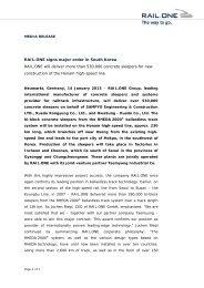 RAIL.ONE signs major order in South Korea ... - RAIL.ONE GmbH