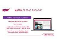 Blog Contest Calendar - MyMatrixfamily.com
