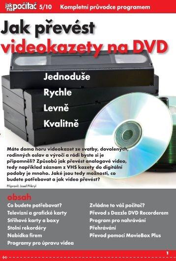 Jak převést videokazety na DVD - JNP.cz