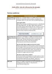 Estilo APA. Lista de referencias de ejemplo - Universidad Autónoma ...