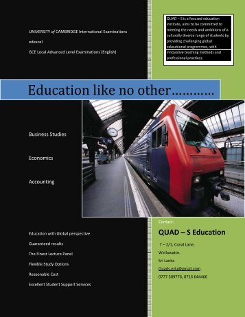 QUAD S Education - Teachers Sri Lanka