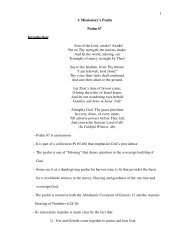1 A Missionary's Psalm Psalm 67 Introduction: Arm of ... - Daniel Akin