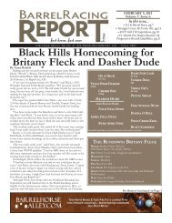2/5 - Barrel Racing Report