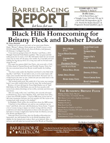 2/5 - Barrel Racing Report