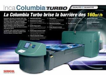 La Columbia Turbo brise la barrière des 160m2/h La ... - Sericol
