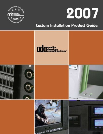 Custom Installation Product Guide Custom Installation Product Guide